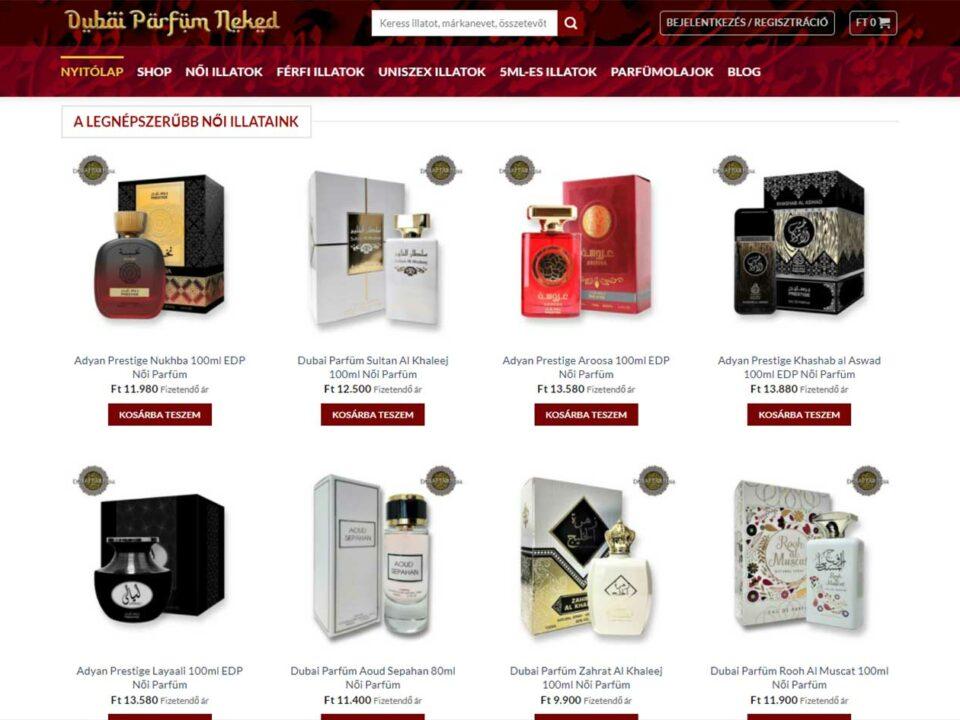 Dubai Orientális Parfüm Shop