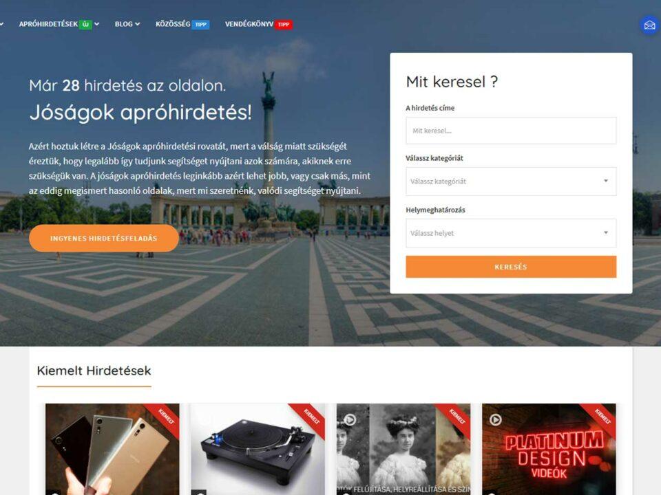 Az apró, az apróhirdetés és a Jóságok - Platinum Design